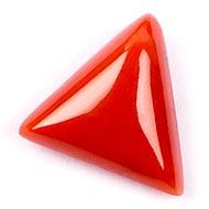 Italian Coral triangular - 6.80 carats