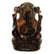 Tiger Eye Ganesha - 967 gms