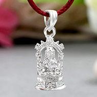 Mahalakshmi Locket in Pure Silver - Design IV