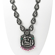 Designer Vishnu Lakshmi Necklace in pure silver