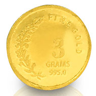 3 gm Pure Gold Coin - 24 carat
