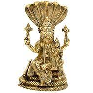 Narasimha Lakshmi statue in brass - II