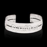 OM Namah Shivaya Kada in pure silver - Design I