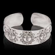 Surya Bracelet in pure silver - Design II