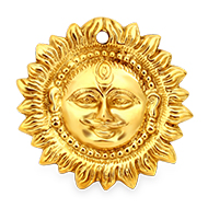 Surya Face in brass