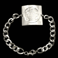 Shree Yantra Bracelet in  Silver
