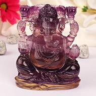 Fluorite Ganesha - 466 gm