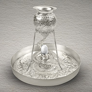 German Silver Abhishekam Set with Shivling