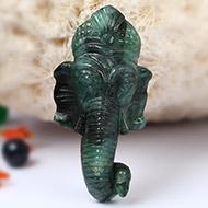 Ganesha Mukha in Emerald - 61.30  carats