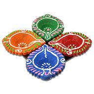 Diwali Earthen Diyas - Set of 4 - Design II