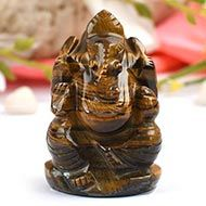 Tiger Eye  Ganesha - 89 gms