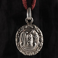 Shivling Locket - in Pure Silver  - Design  III