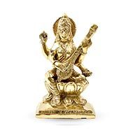 Saraswati in Brass