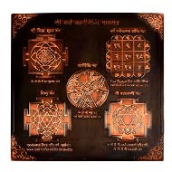 Shree Sarva Karya Siddhi Maha yantra in Copper - Antique finish - 9 inches