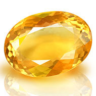 Yellow Citrine - 6.80 carats - Oval