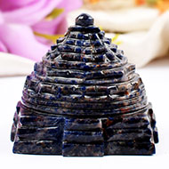 Shree Yantra in Blue Sodalite - 190 gms
