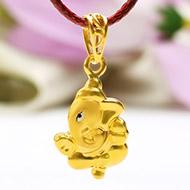 Ganesh Pendant in Gold - 1.42 gms