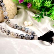 Smoky faceted Agate Rosary