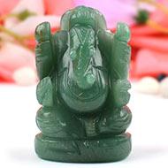 Ganesha in Light Green Jade - 125 gms