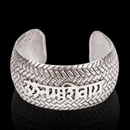 Om Namah Shivaya Kada in pure heavy silver - Design I