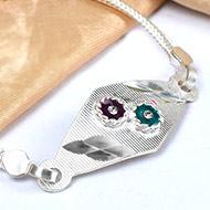 Pure silver Rakhi - Design XVIII