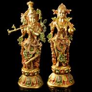 Radhe Krishna in Brass - I