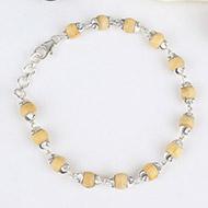 Tulsi Beads Bracelet in Silver - 6 mm
