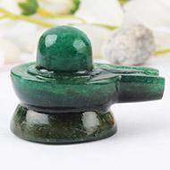 Green Jade Shivlinga - 55 gms