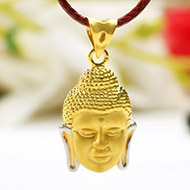 Buddha Locket in Gold - 1.90 gms