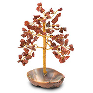 Natural Red Jasper Chakra Vastu Tree - Small
