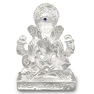 Dagdu Sheth Ganesha in pure silver