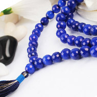 Blue Jade Faceted mala - 8mm