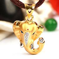 Ganesh Pendant in Gold - 2.01 gms