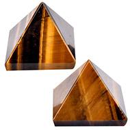 Pyramid in Natural Tiger Eye - II - Set of 2