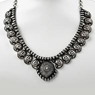 Designer Lakshmi Necklace in pure silver - III