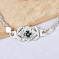 Pure silver Rakhi - Design XVII