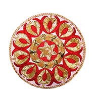 Designer Puja Thali cloth Covers - (Set of 3)
