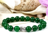 Green Onyx with Buddha Bracelet