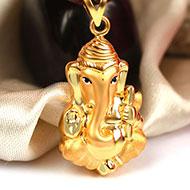 Ganesh Pendant in Gold - 2.52 gms