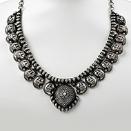 Designer Lakshmi Necklace in pure silver - II..