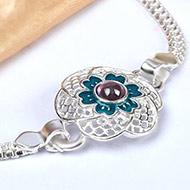 Pure silver Rakhi - Design VI