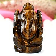 Tiger Eye Ganesha-73 gms