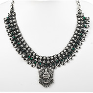 Designer Lakshmi Necklace in pure silver - I