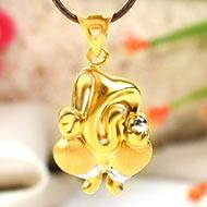 Vinayaka Ganesh pendant in gold