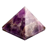 Pyramid in Natural Amethyst - 125 gms