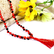 Red Chirmi beads mala
