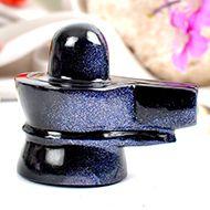Blue Sunstone Shivaling - 82 gms - I