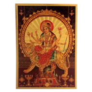 Durga Devi Photo in Golden Sheet - Large