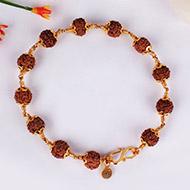 Rudraksha Bracelet in gold - Design II