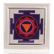 Mahakali Yantra on silk with frame